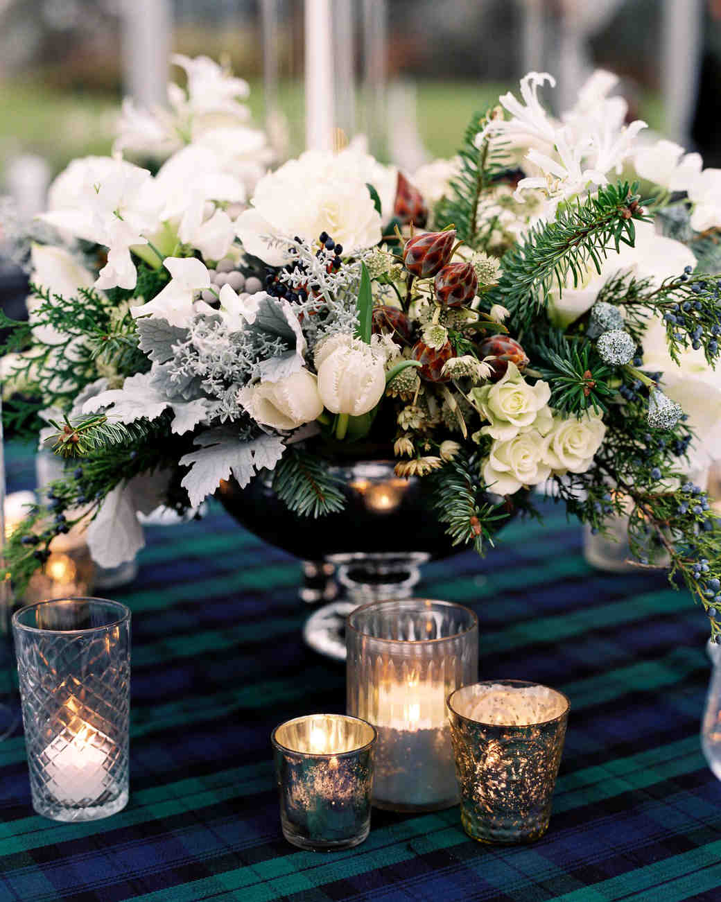 winter wedding centerpieces leila brewster