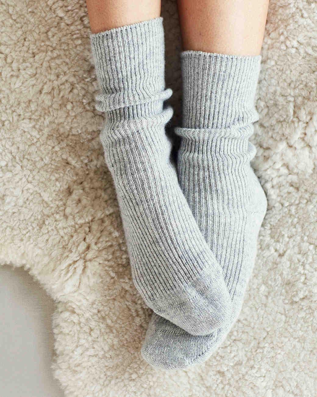 wool anniversary gift gray thick socks