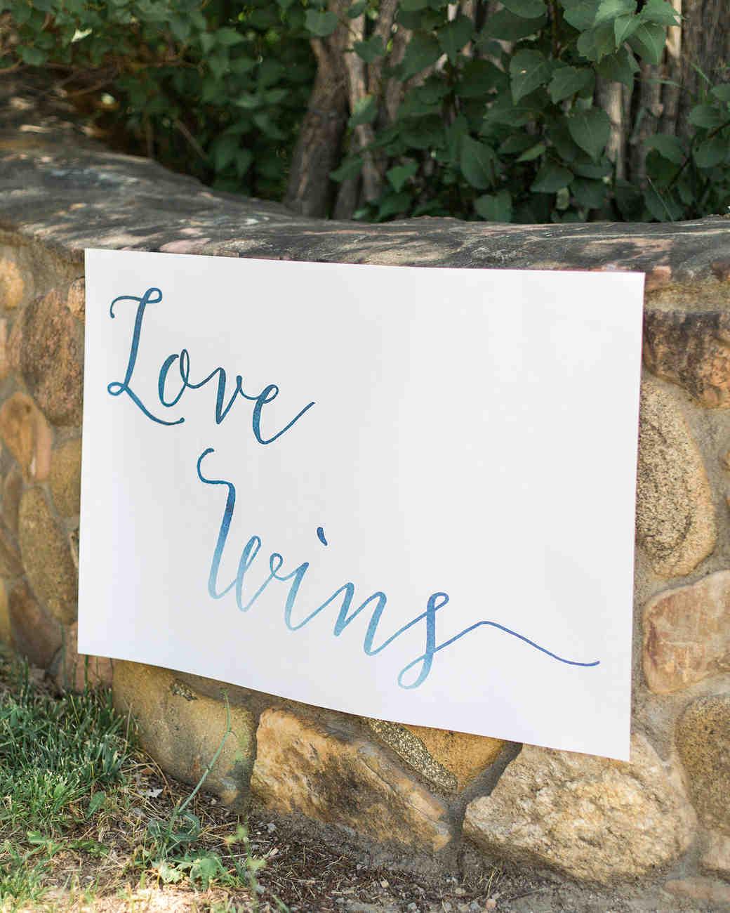 allison aimee wedding love wins sign