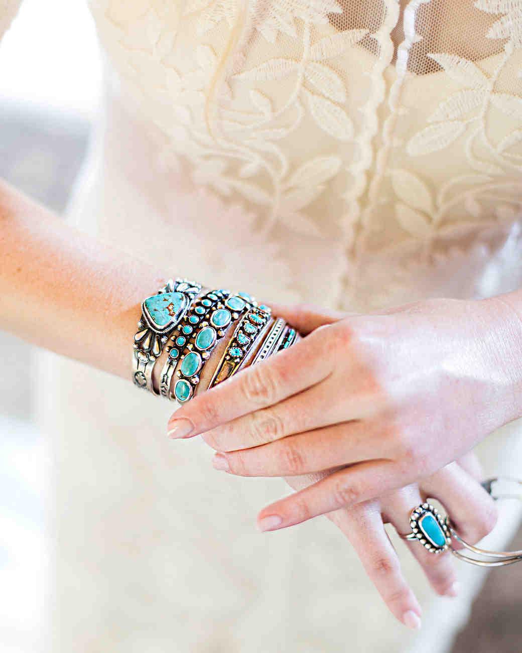 allison aimee wedding turquoise bracelets