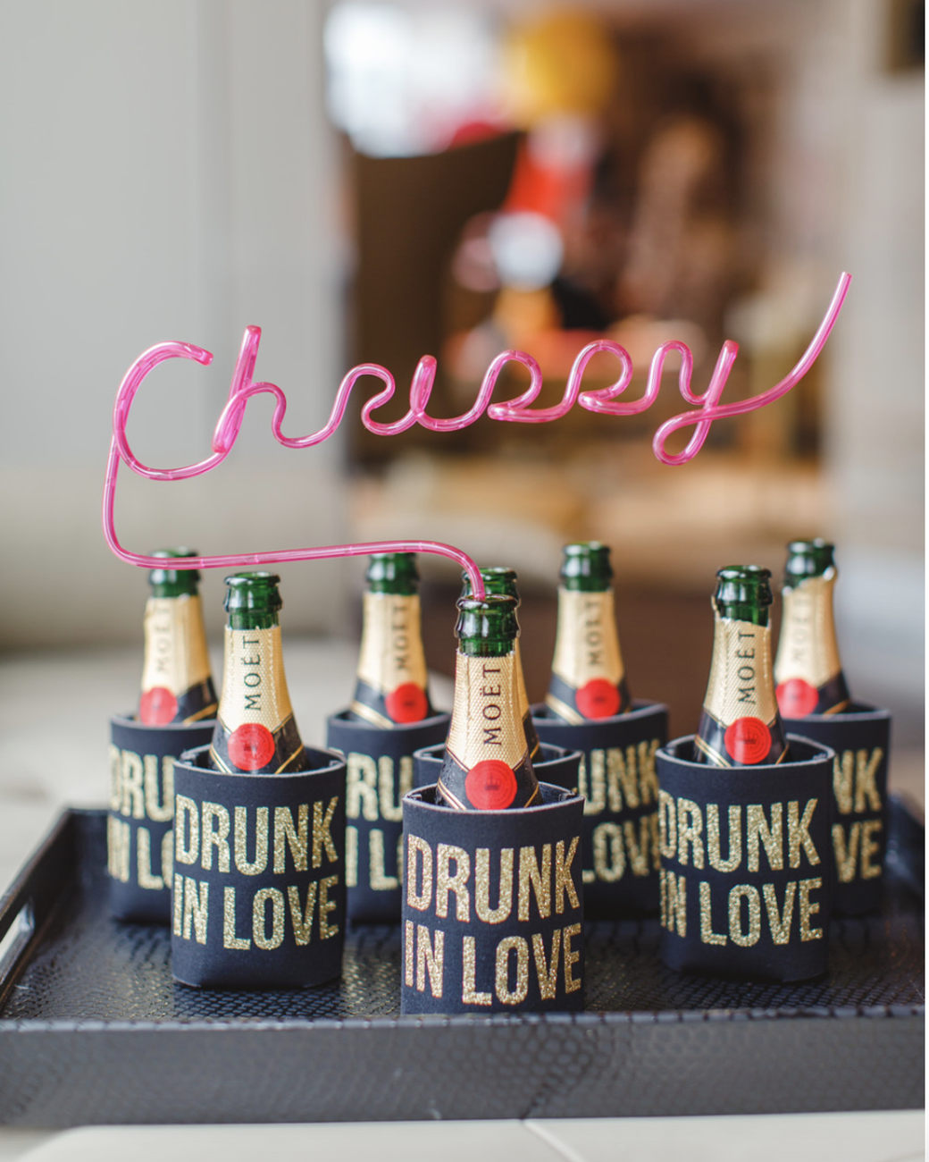 personal Champagne bottles bachelorette party favors