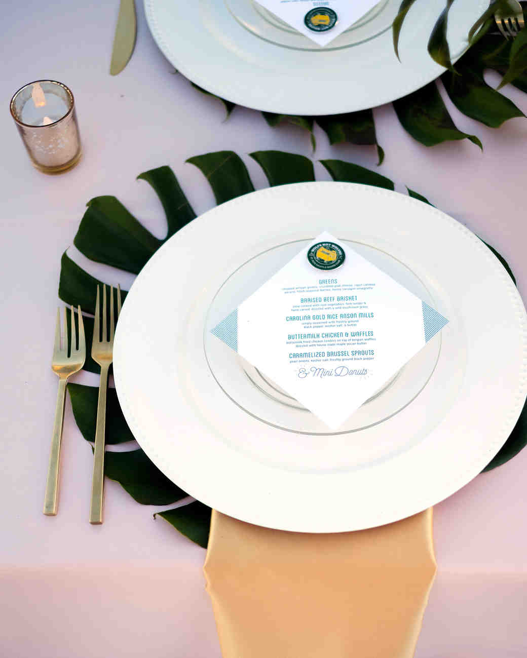becca zac wedding place setting