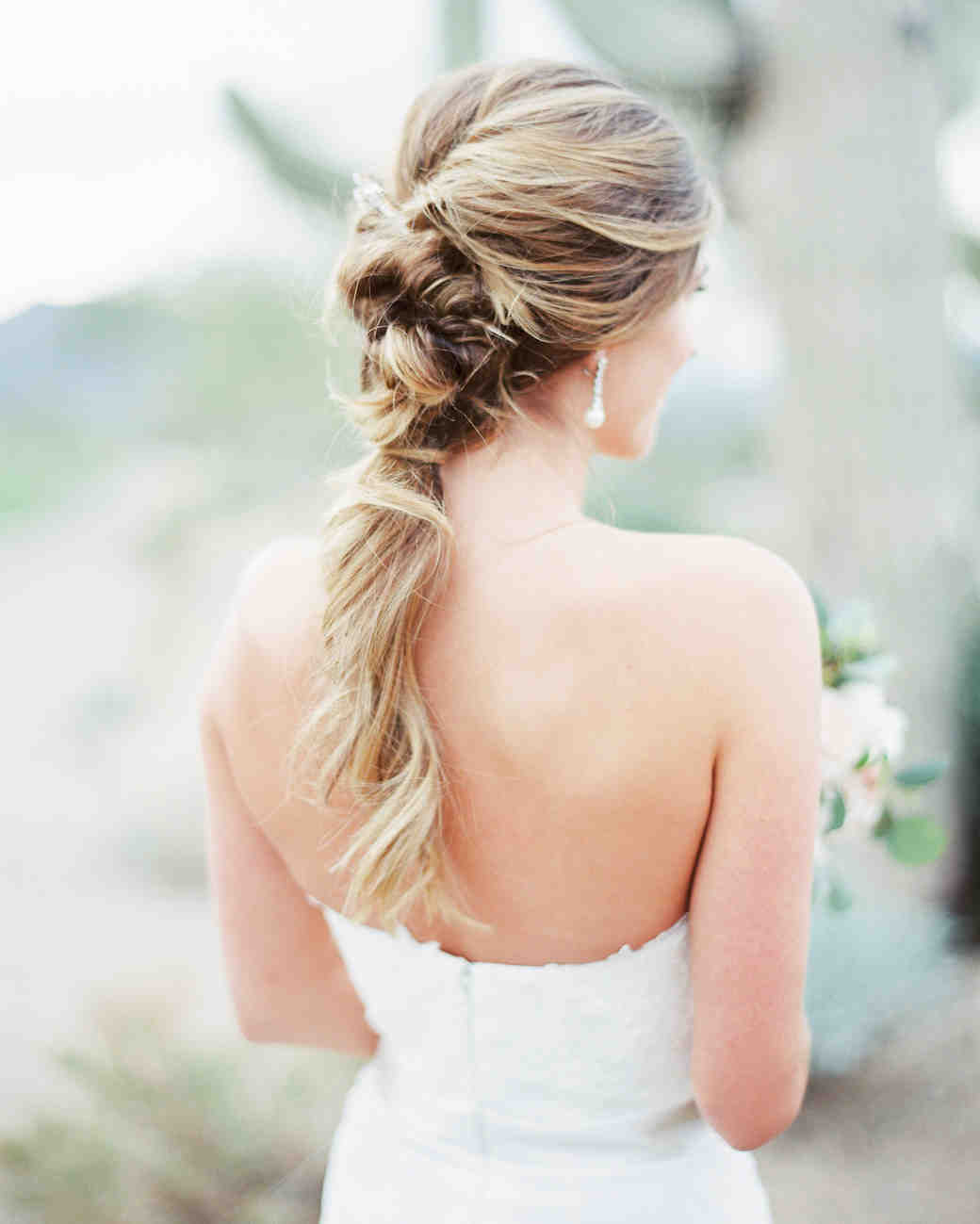 bridal ponytail