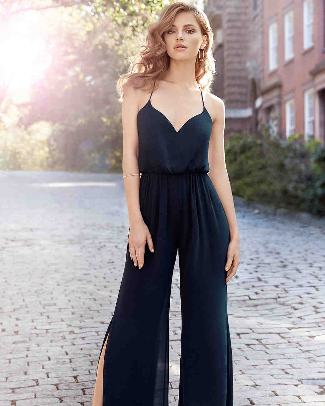 jumpsuit blue sweetheart