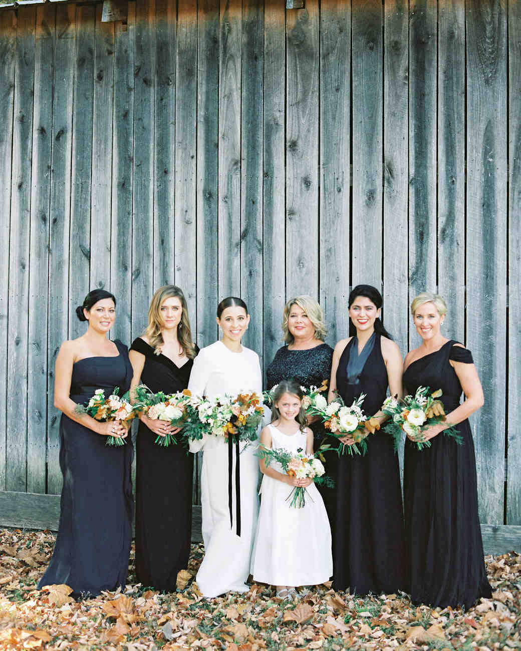 wedding bridesmaids black dresses