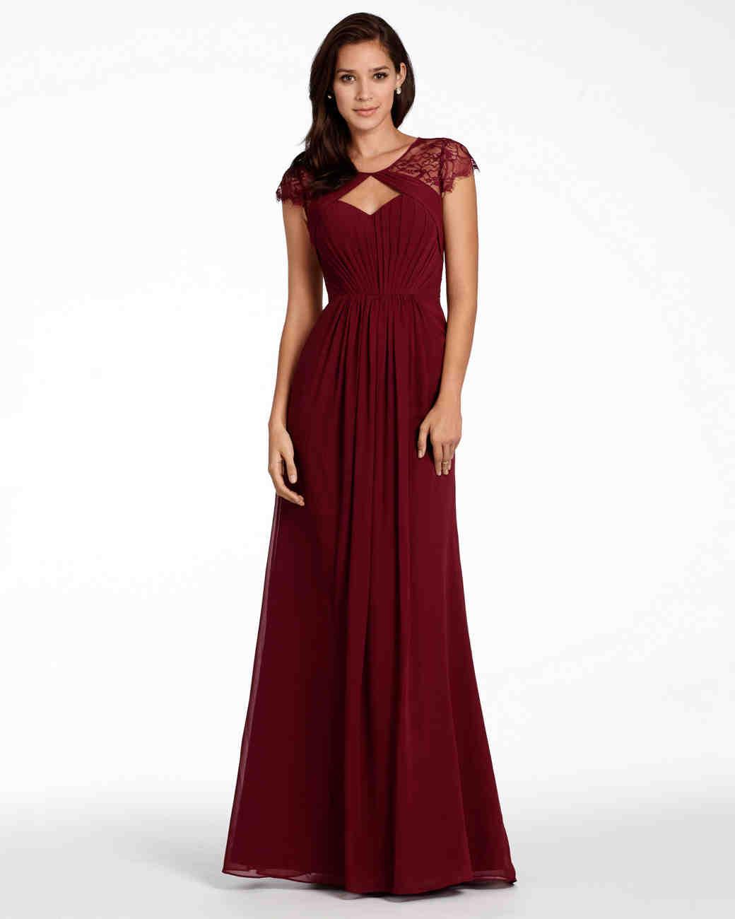 Burgundy Bridesmaid Dresses   Martha Stewart Weddings