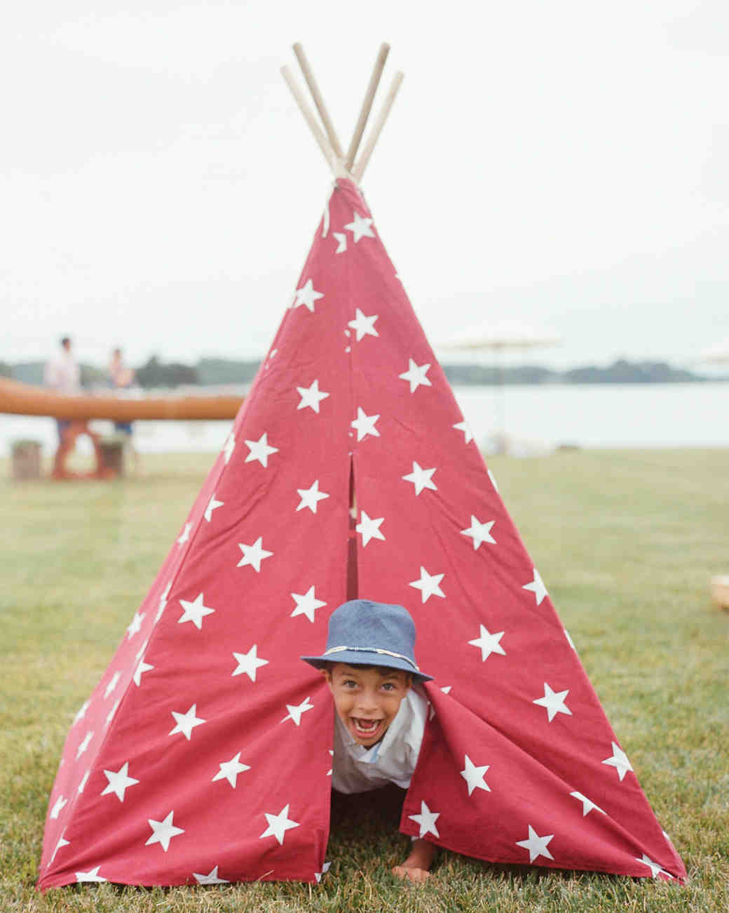patriotic party tepee boy playing