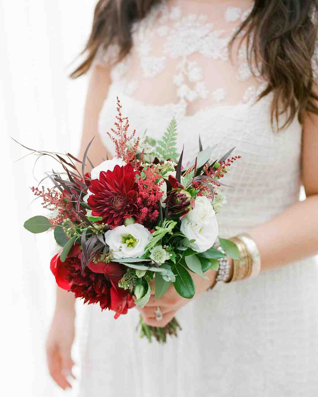chrissys red bridal bouquet