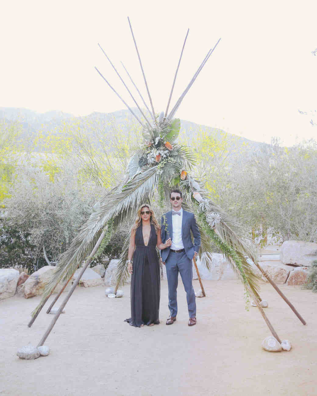 Christen and Billy\'s Bohemian Wedding Reception in Palm Springs ...