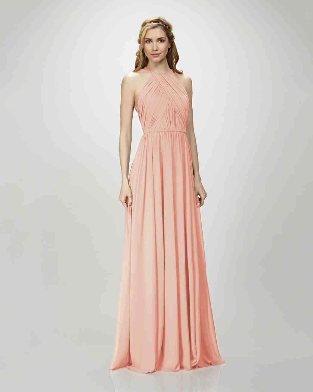 Coral bridesmaid dresses martha stewart weddings ombrellifo Images