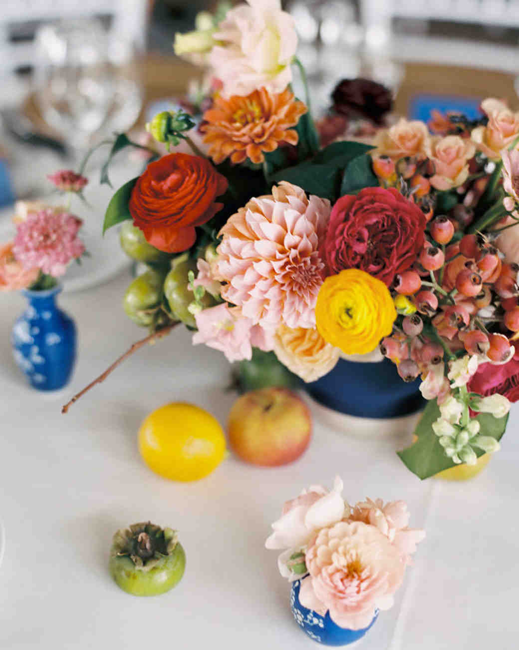 dahlia wedding centerpieces colorful prema arrangement
