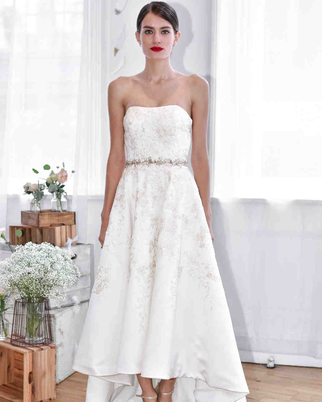 david's bridal fall 2018 strapless a-line wedding dress