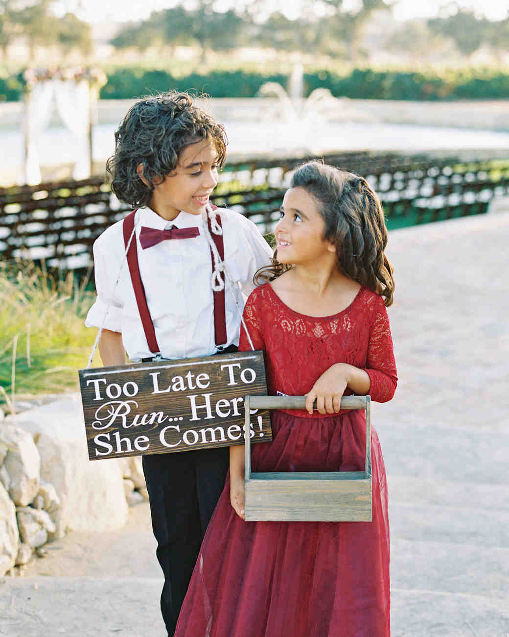 dianna amar wedding ring bearer and flower girl