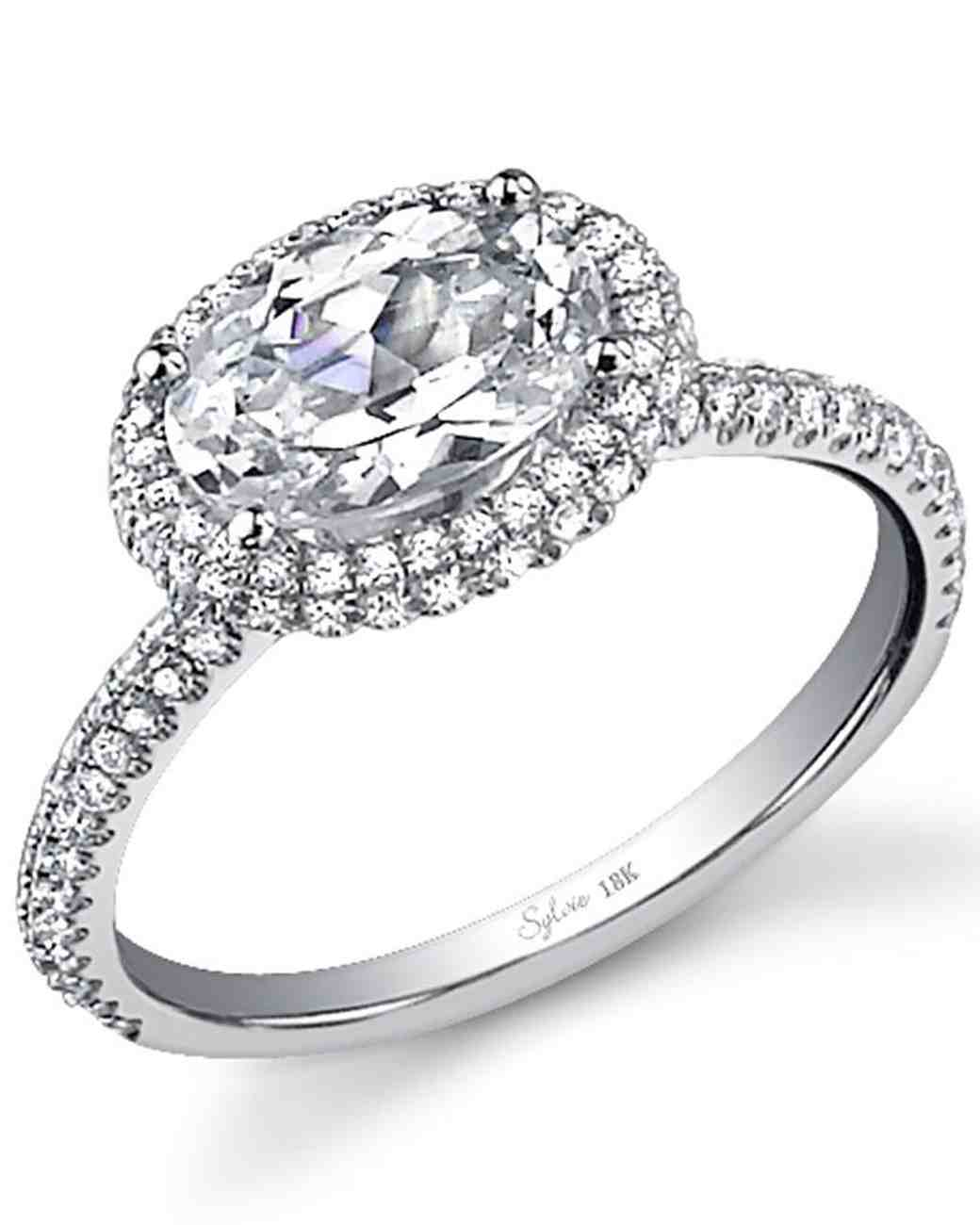 East West Oval Diamond Engagement Rings
