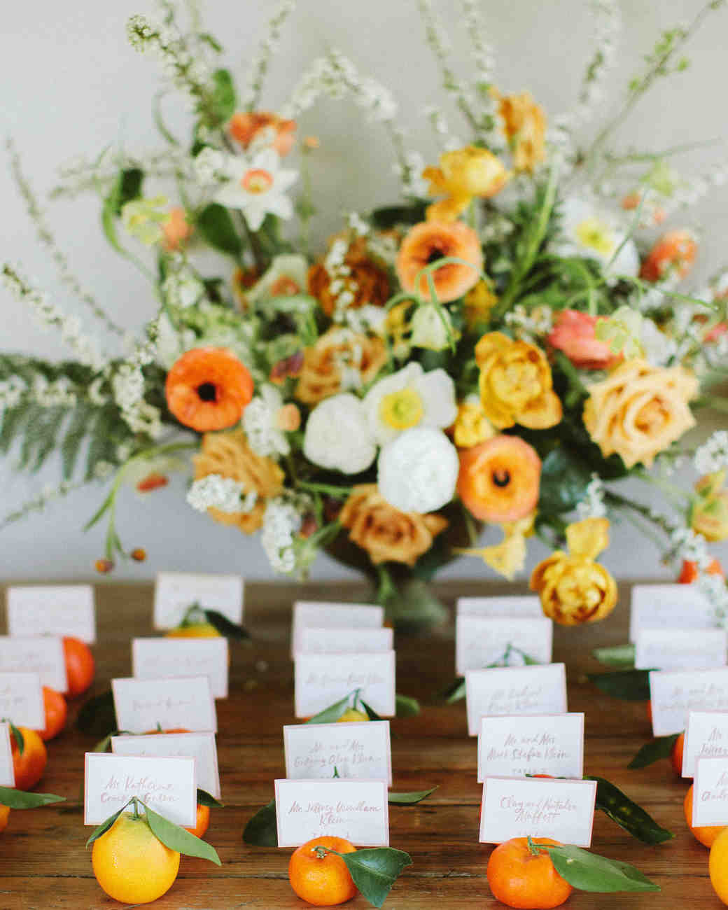 eliza peter wedding escort cards