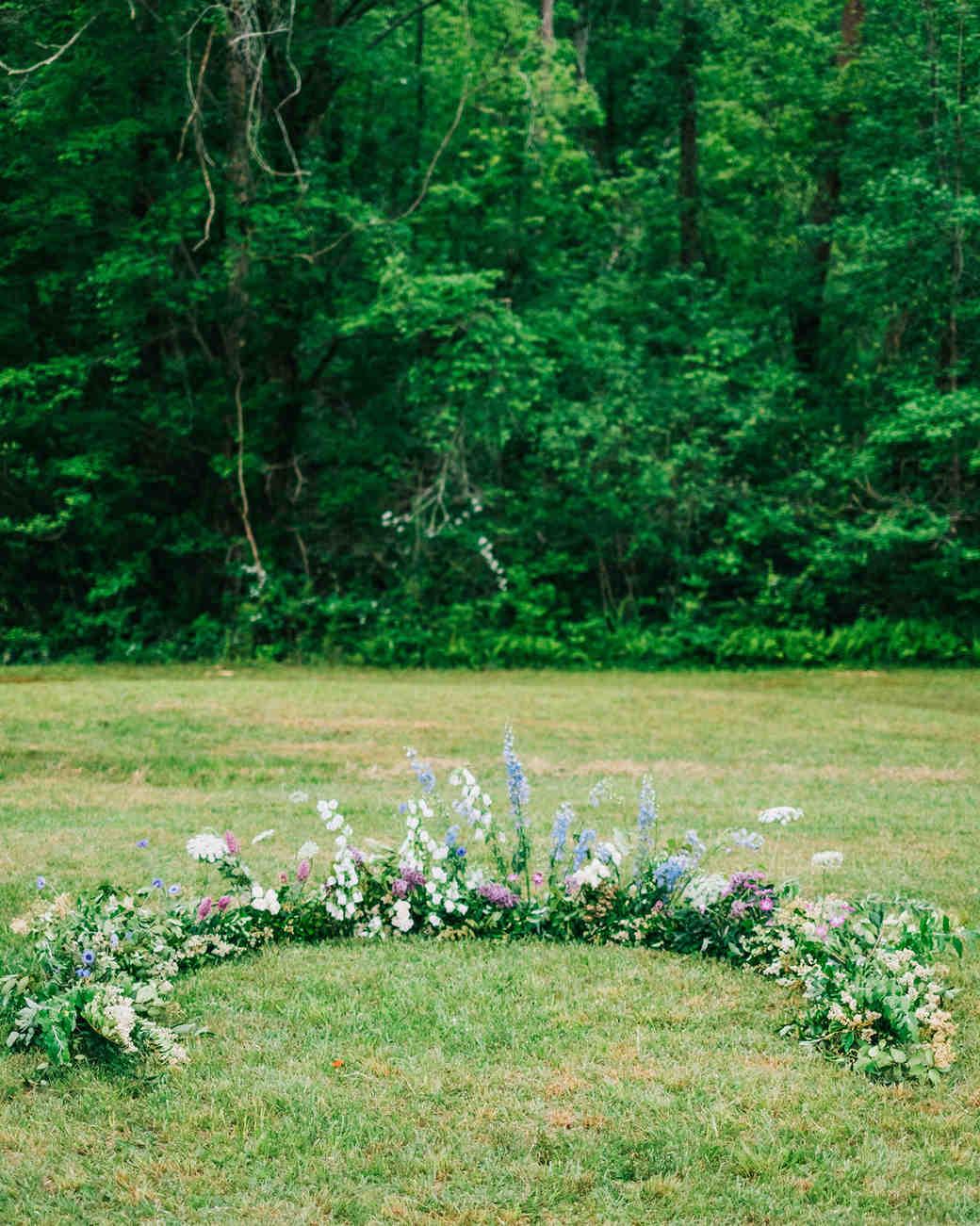 elizabeth jake georgia wedding ceremony flowers