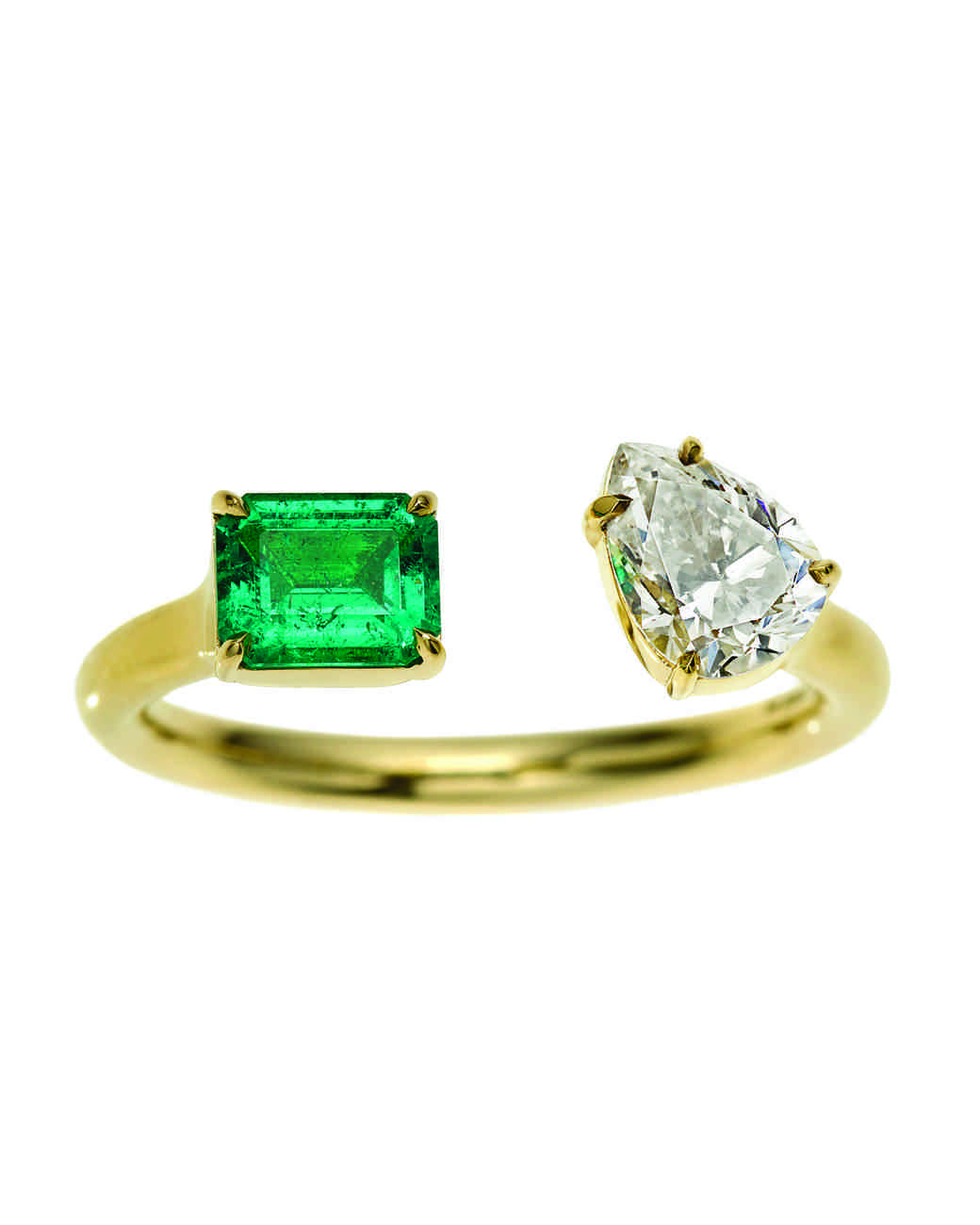 Jemma Wynne Emerald Engagement Ring
