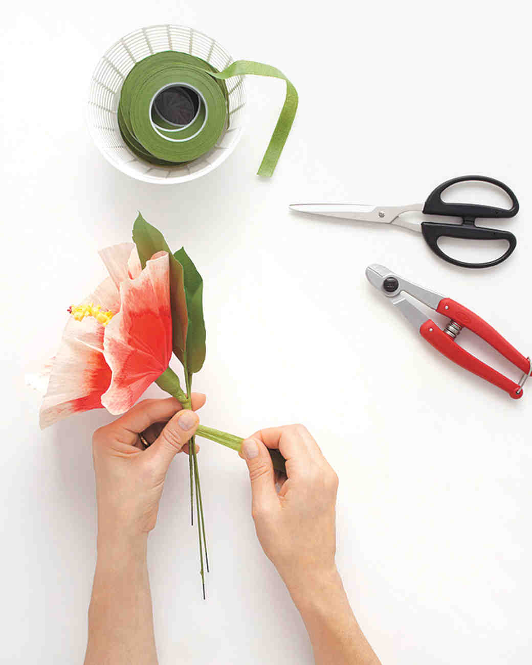 How To Make Paper Flowers Hibiscus Martha Stewart Weddings
