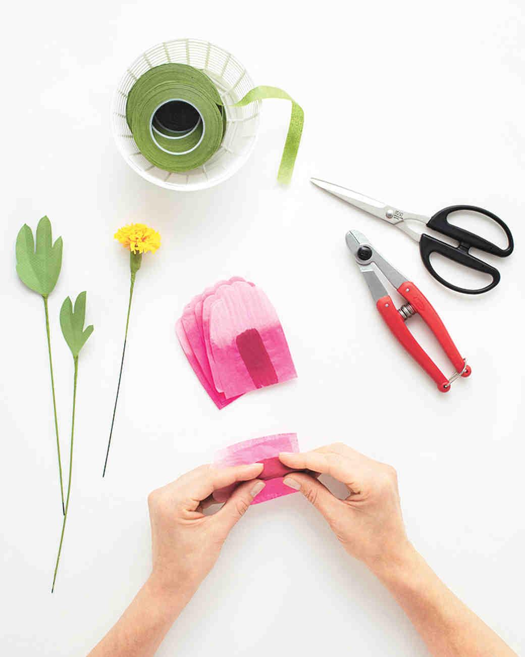 How To Make Paper Flowers Peony Martha Stewart Weddings