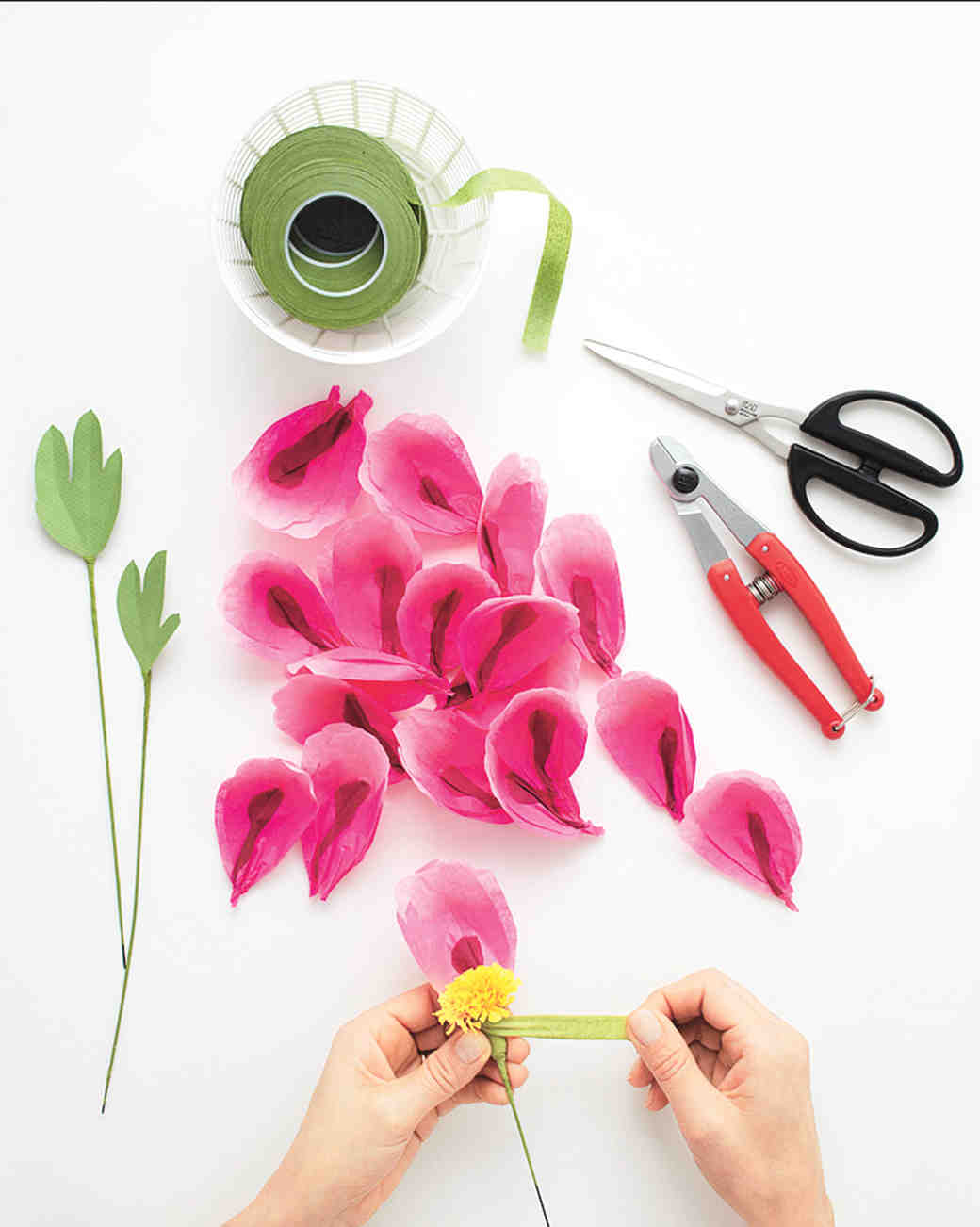How To Make Paper Flowers Peony Martha Stewart Weddings
