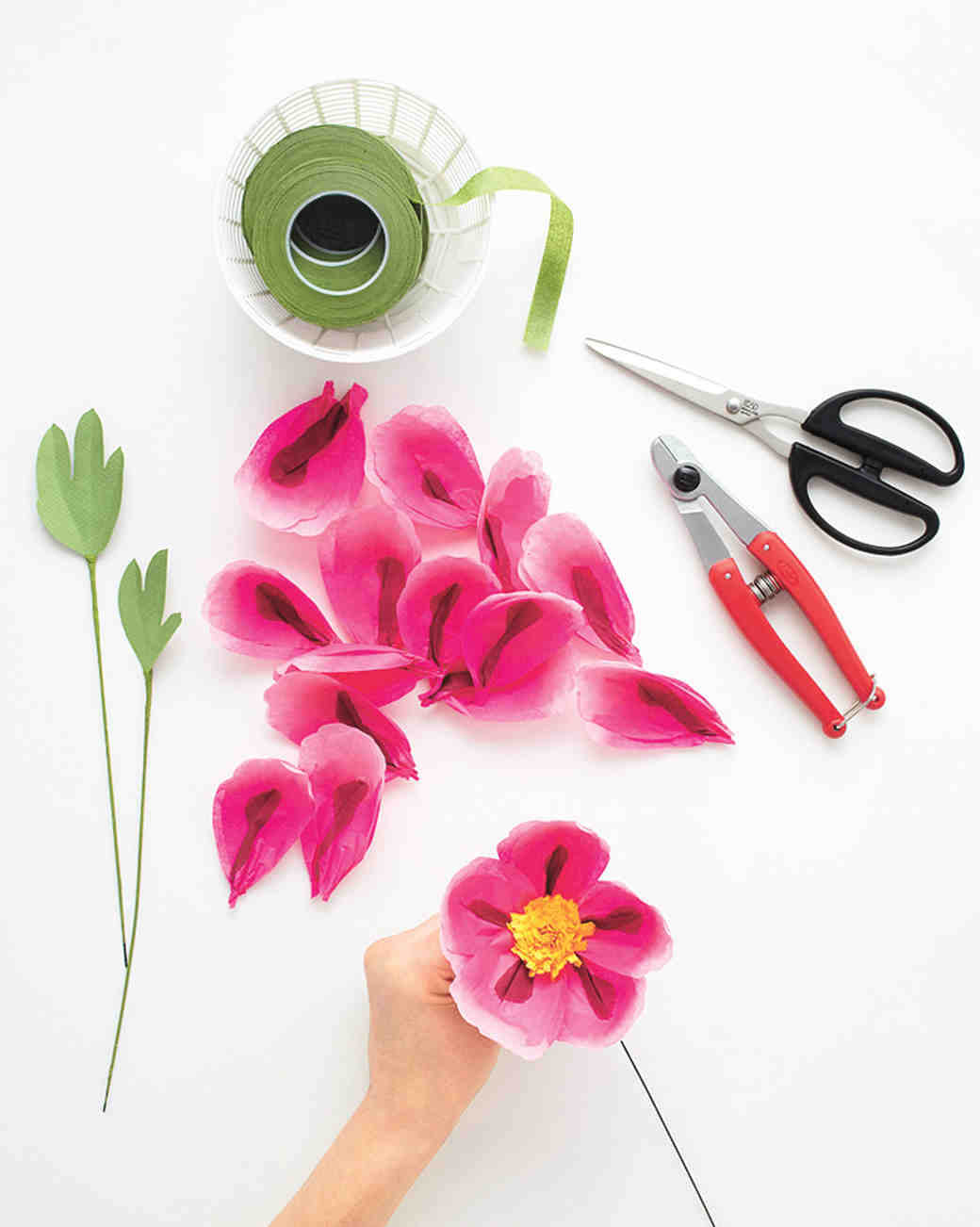 How to make paper flowers peony martha stewart weddings mightylinksfo