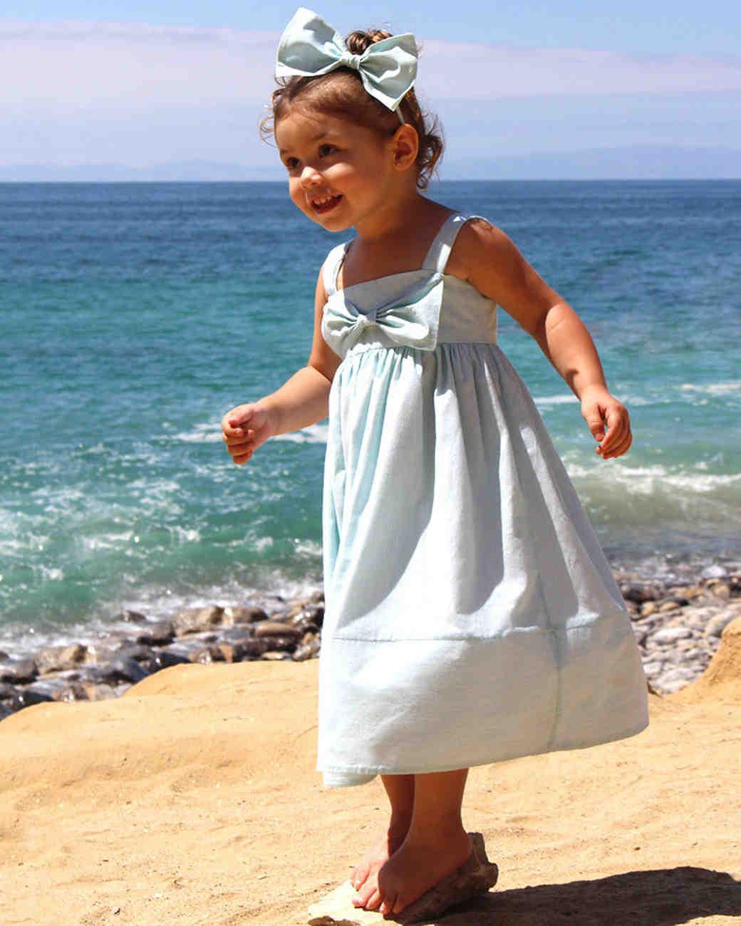 light blue flower girl dress