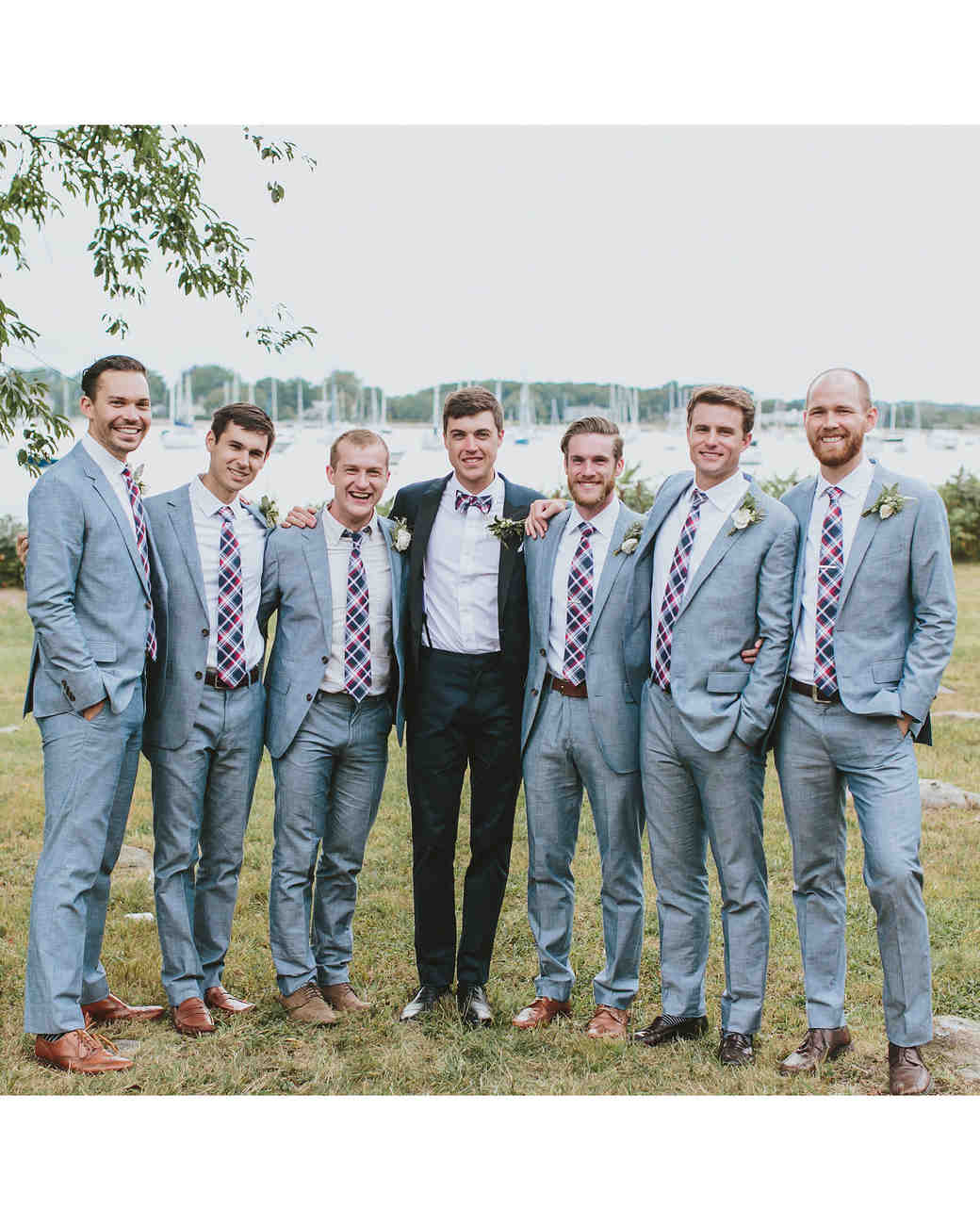 6cfb10ac1c62 29 Stylish Groomsmen from Real Weddings | Martha Stewart Weddings