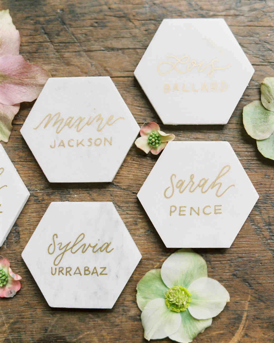 Honeycomb Wedding Inspiration, Escort Cards