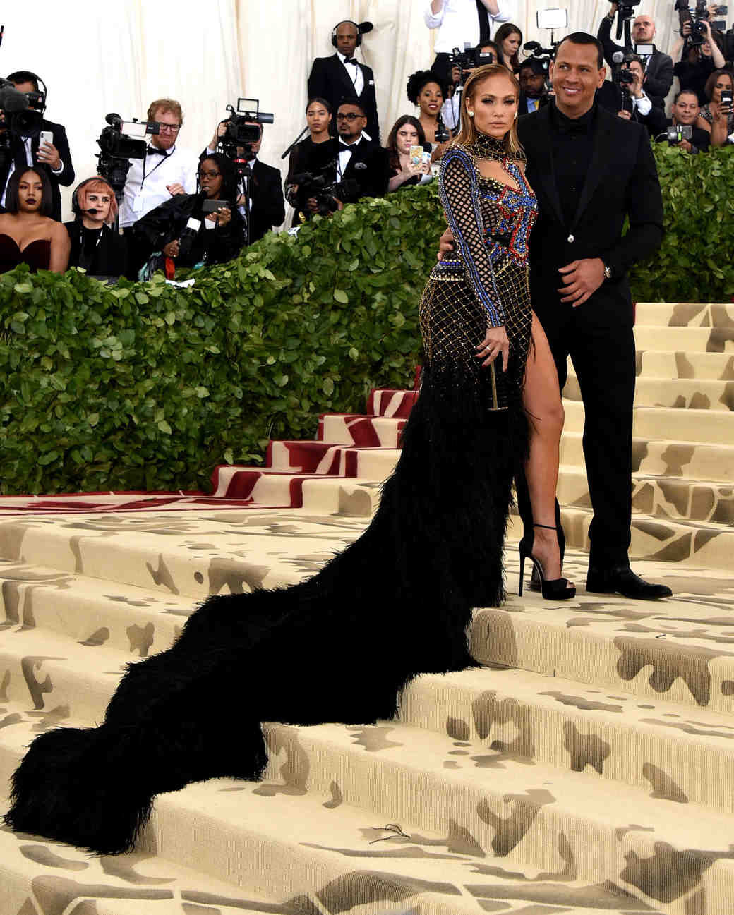 Jennifer Lopez and Alex Rodriguez Met Gala 2018