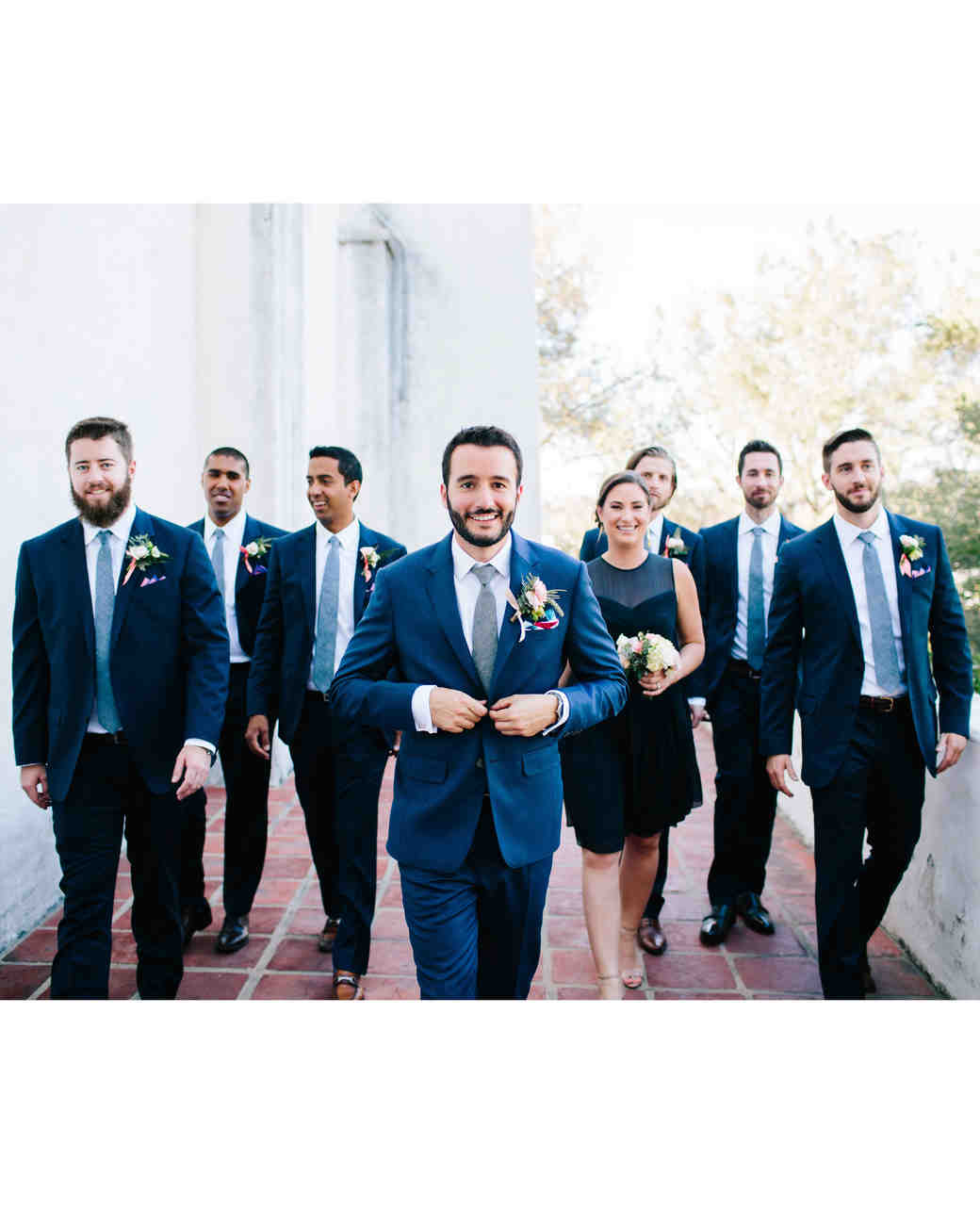 julie anthony real wedding groomsmen