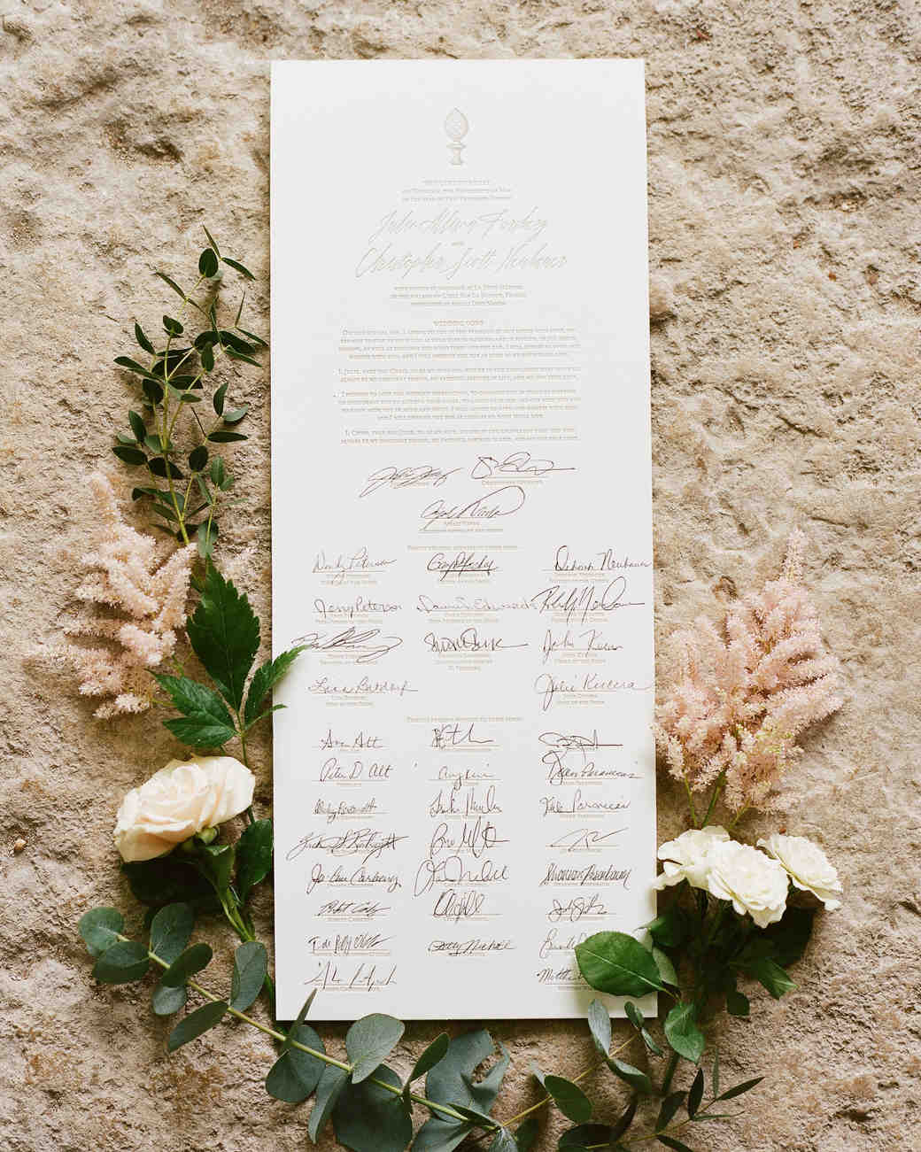 scroll wedding guest book