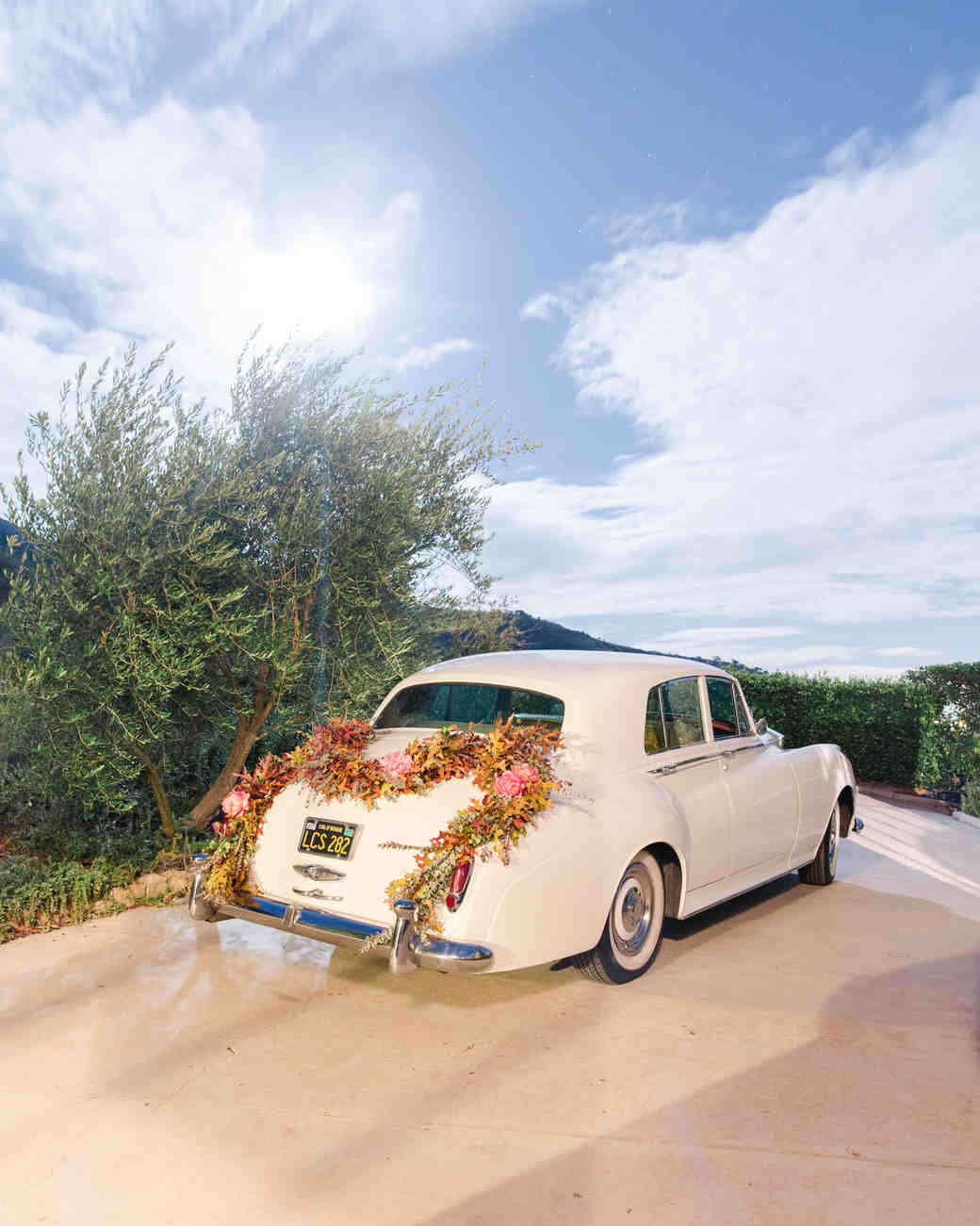 kathryn ian wedding getaway car