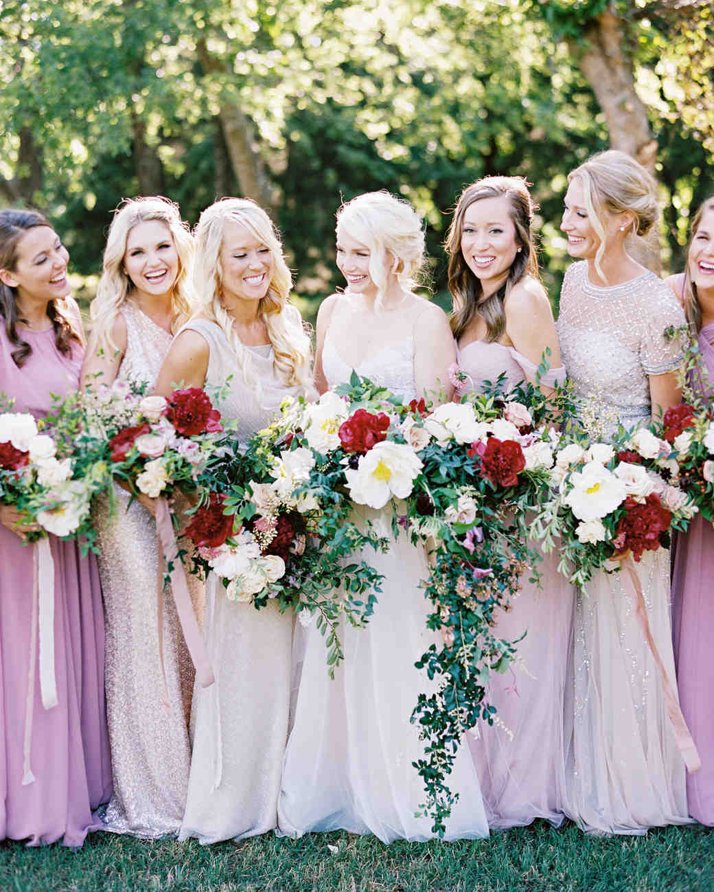The best bridesmaids dresses of 2017 martha stewart weddings mismatched bridesmaids dresses ombrellifo Image collections