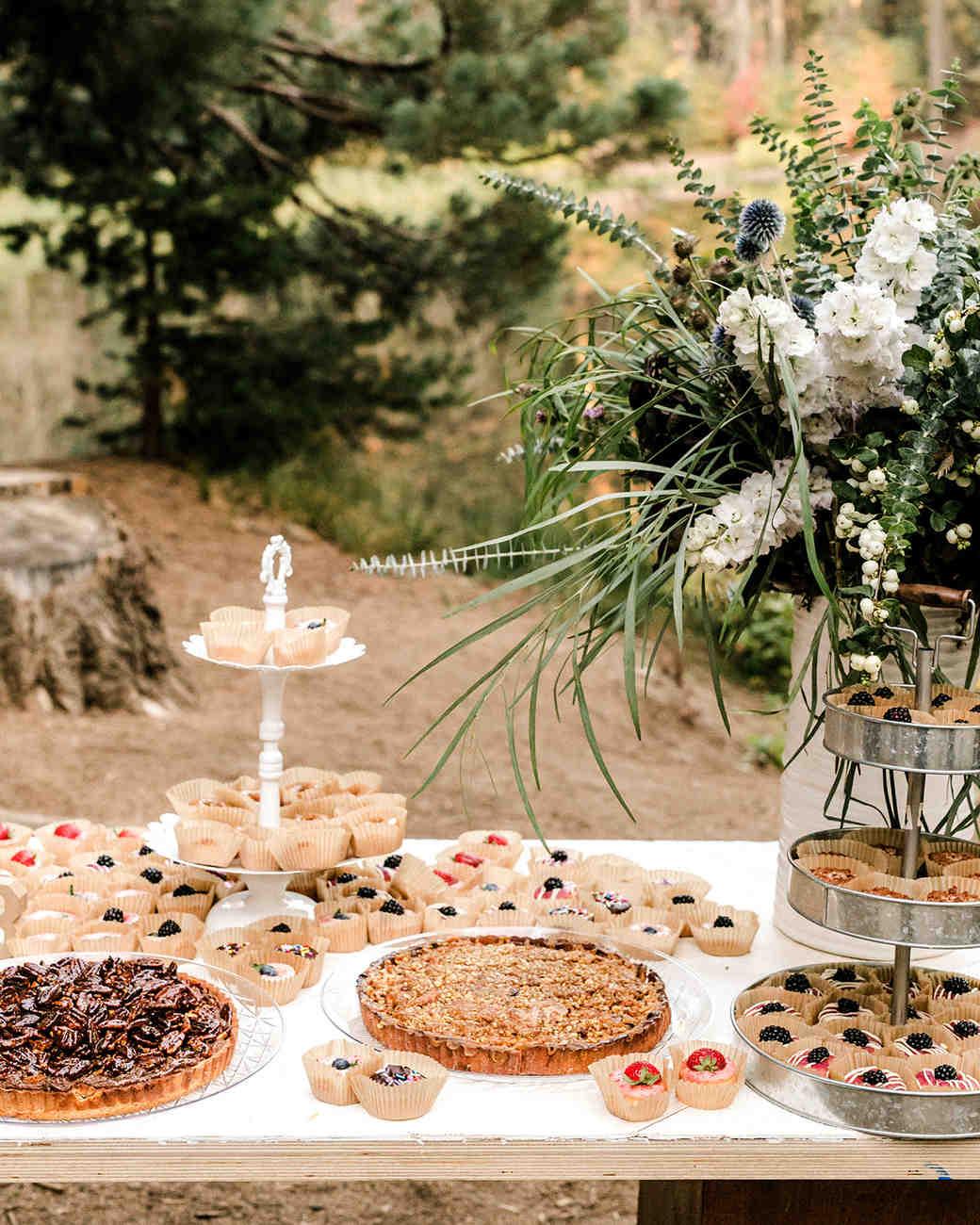 kelly kelsey wedding dessert table