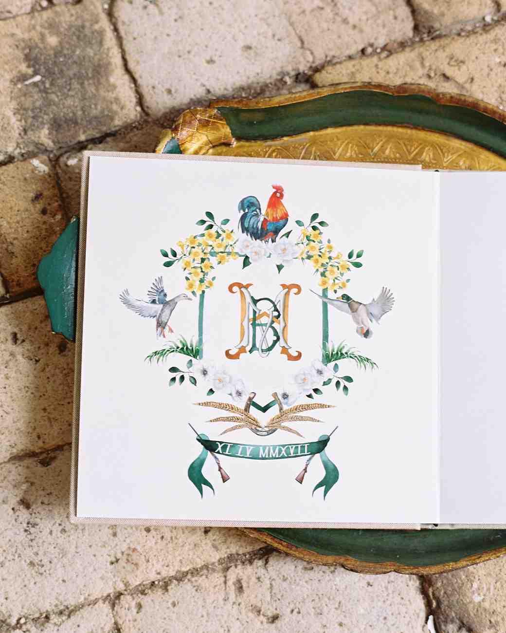 madeline brad wedding guestbook