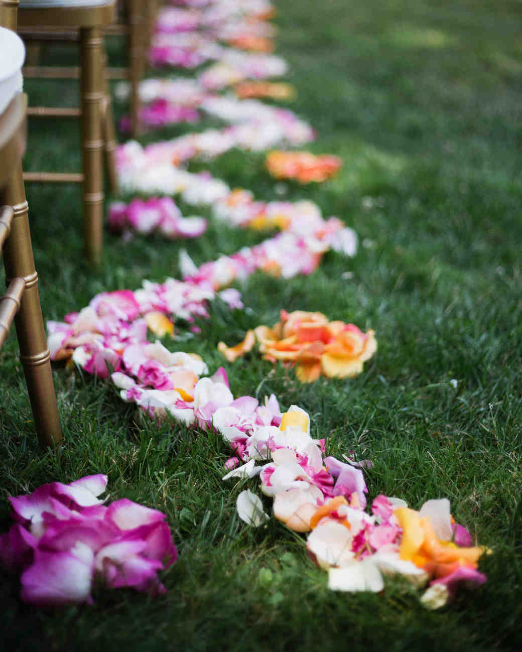 molly adam wedding aisle petals