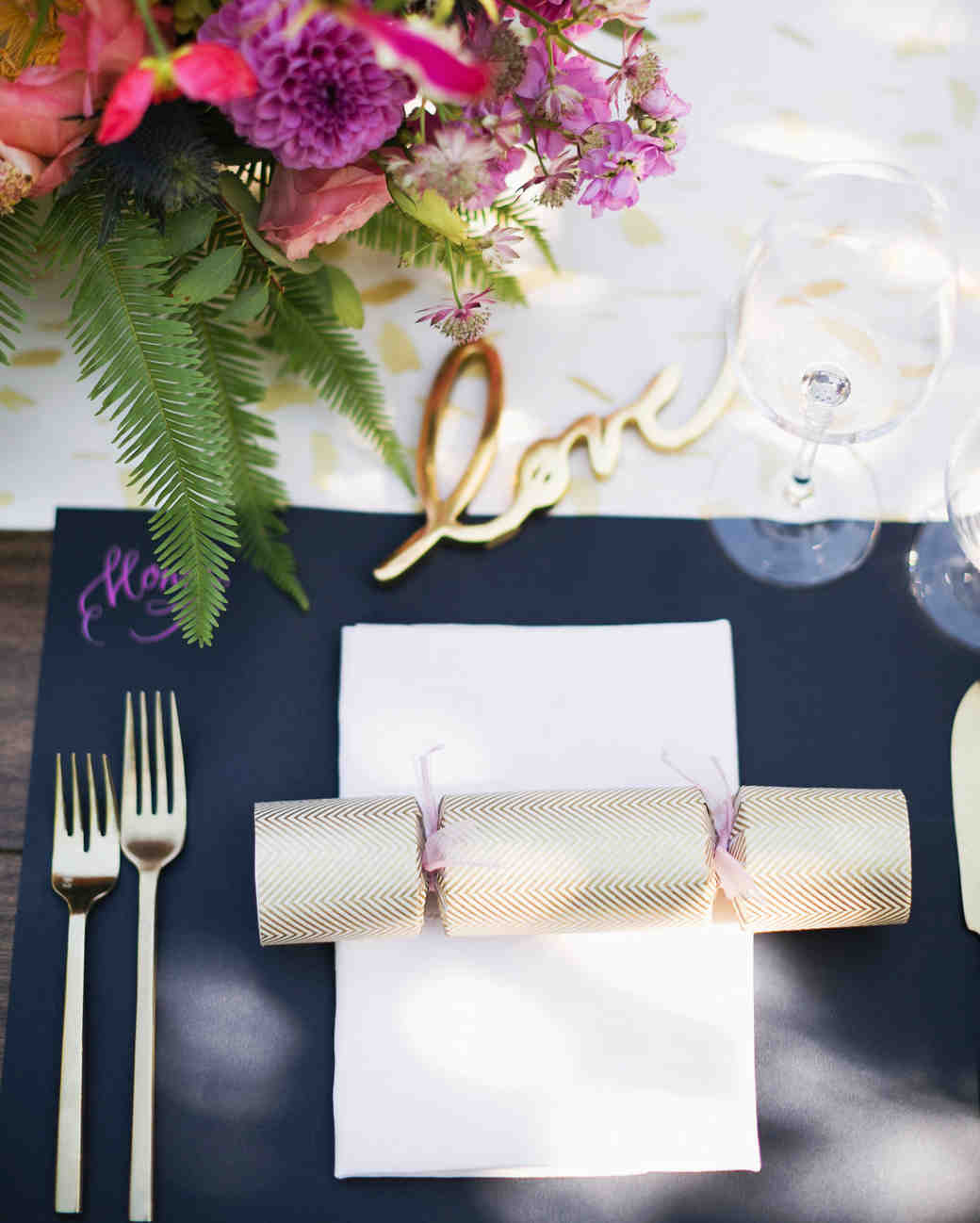 molly adam wedding place setting