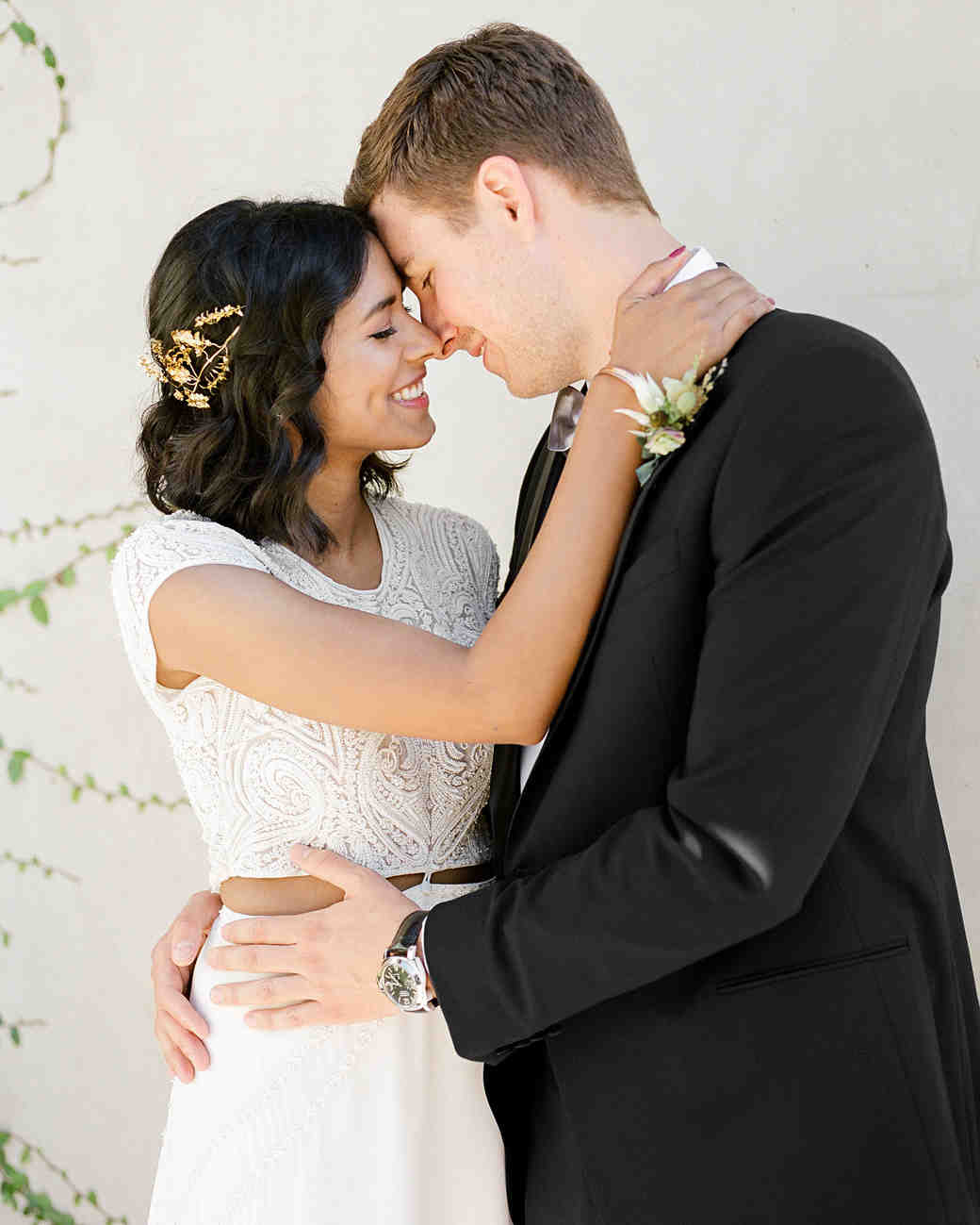 natasha nick wedding california couple embrace
