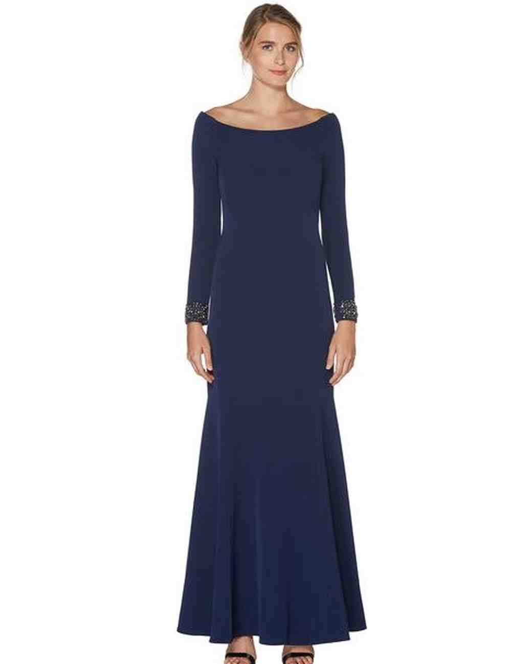 Navy Mother of the Bride Dress, Long Sleeve Laundry by Shelli Segal Dress