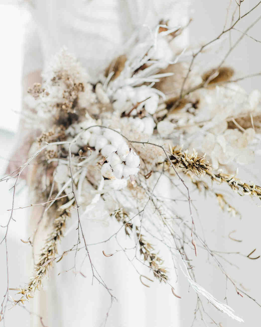 cotton wedding bouquet