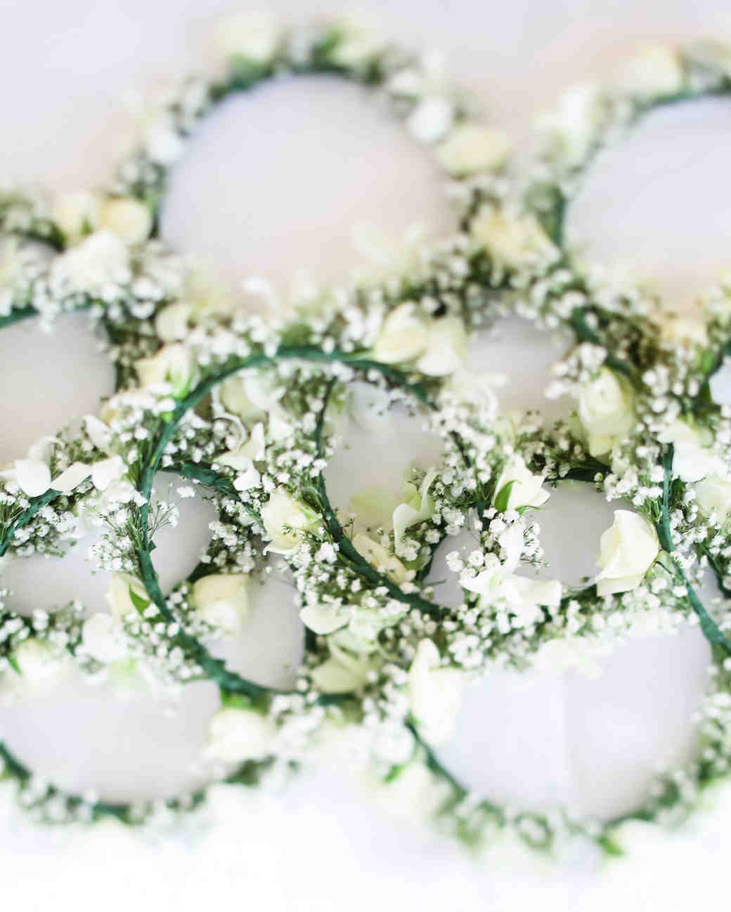 Minimal White Flower Crowns