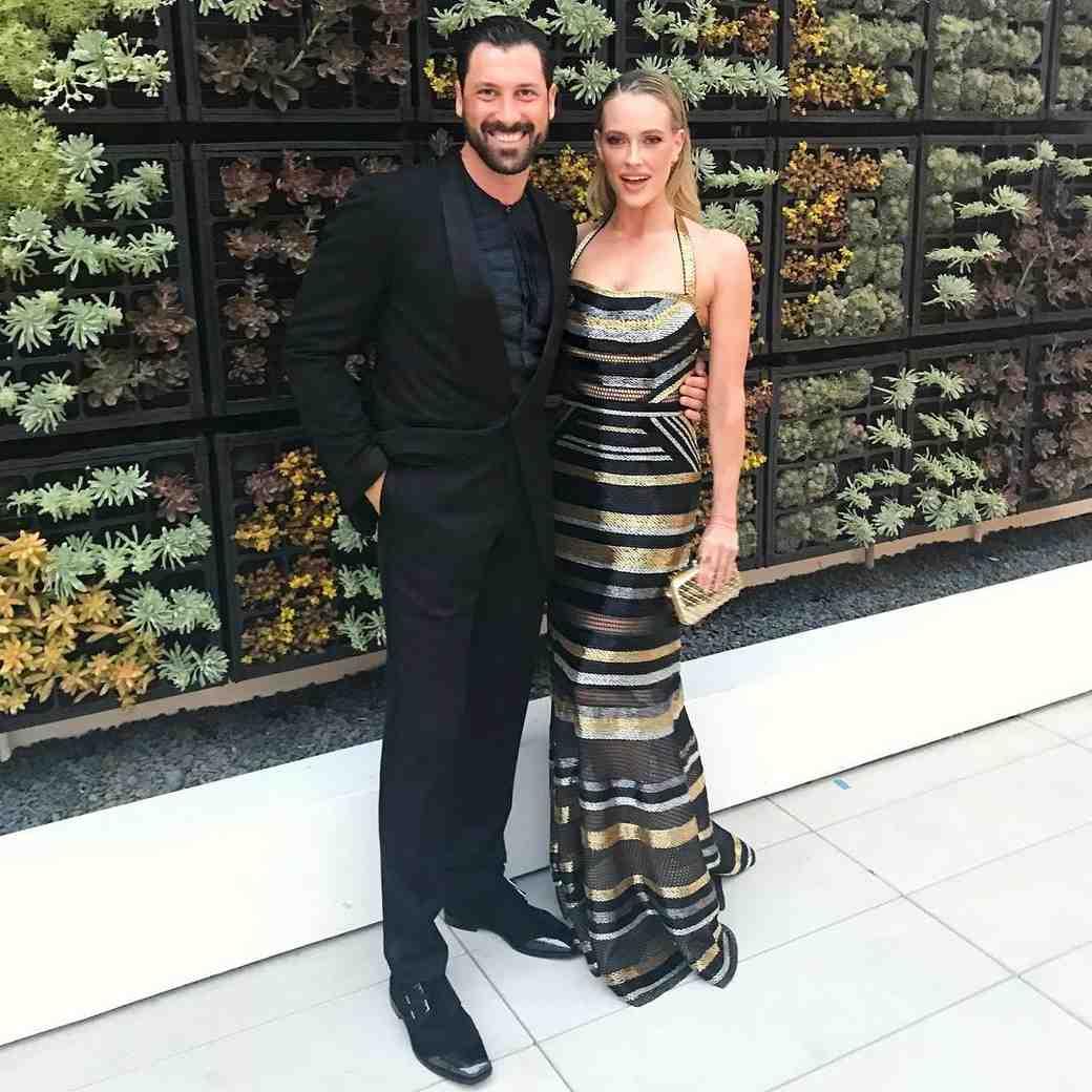 Peta Murgatroyd and Maks Chmerkovskiy attending a formal event