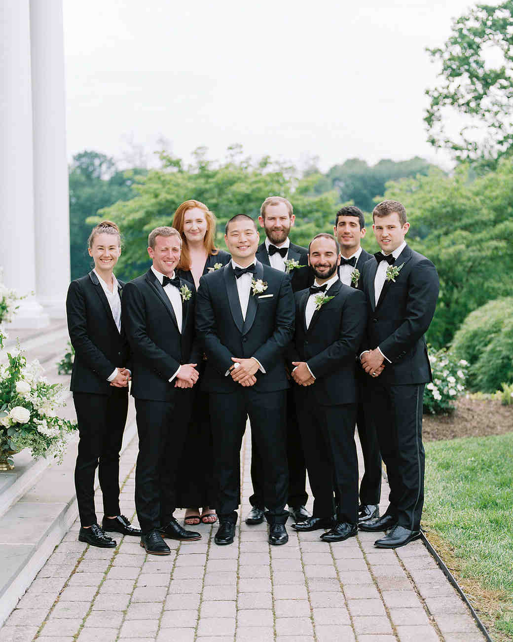 pillar paul wedding groomsmen groomsmaids