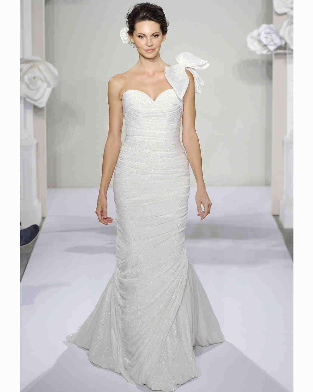 One-Shoulder Wedding Dresses, Fall 2013