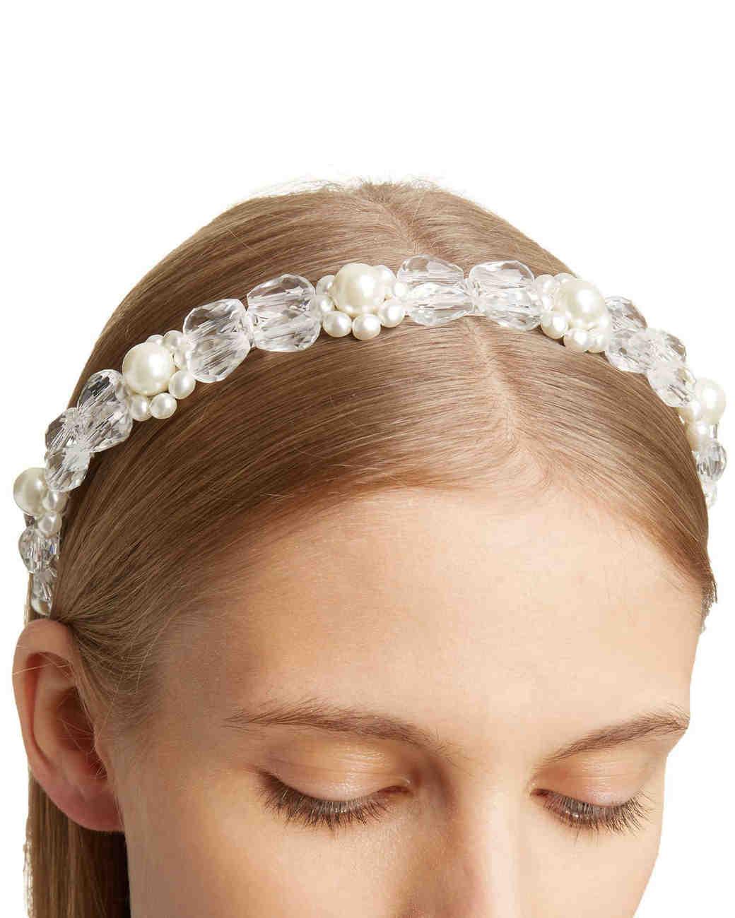 Imitation Pearl and Crystal Headband