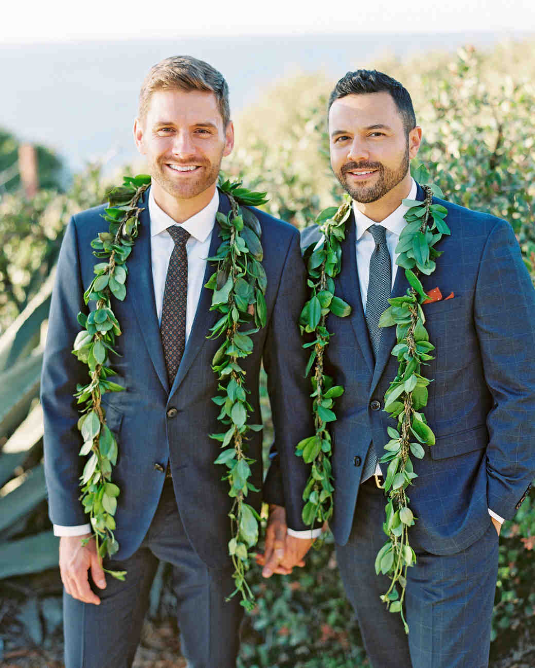 rob franco wedding grooms leis