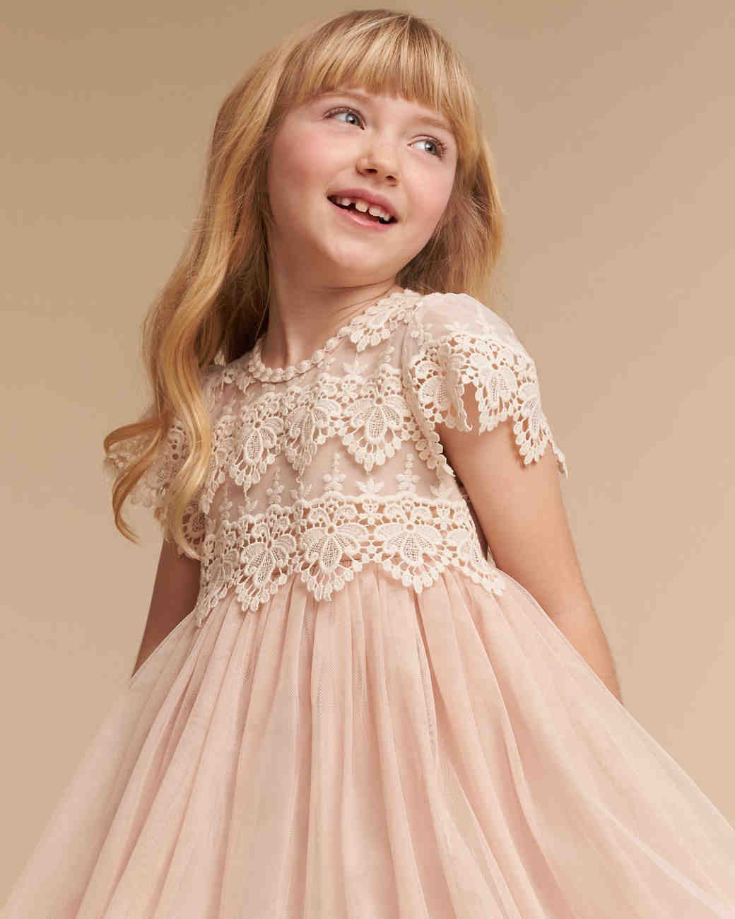 "Short Sleeve Flower Girl Dress, BHLDN ""Kala"""