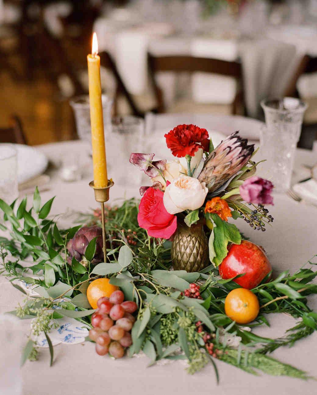 22 wedding centerpieces bursting with fruits and vegetables martha rh marthastewartweddings com centerpieces with fruit in vases centerpieces with fruit in vases