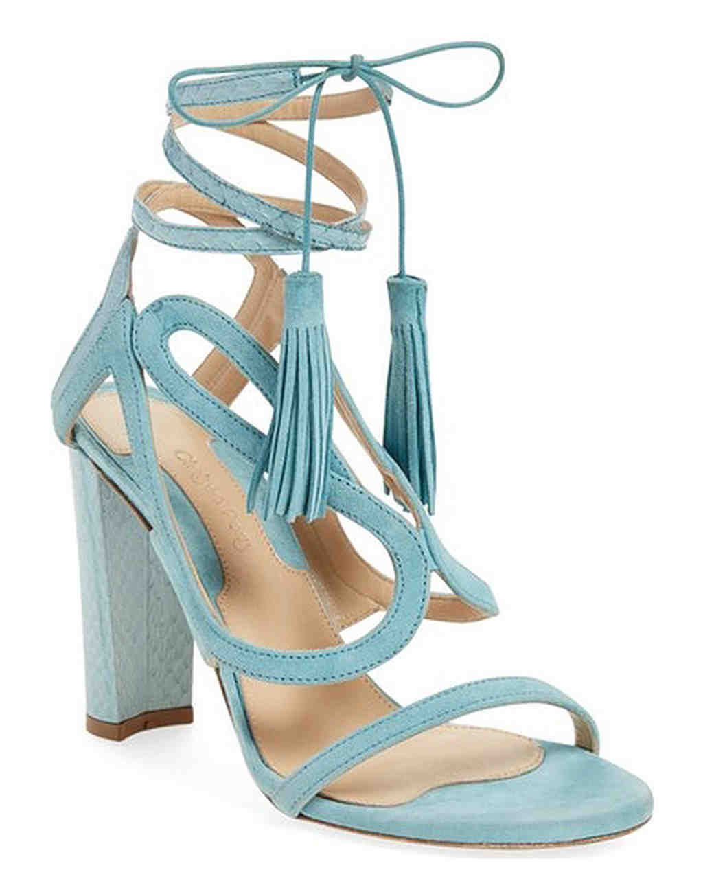 Chelsea Paris Turquoise Tassel Sandals