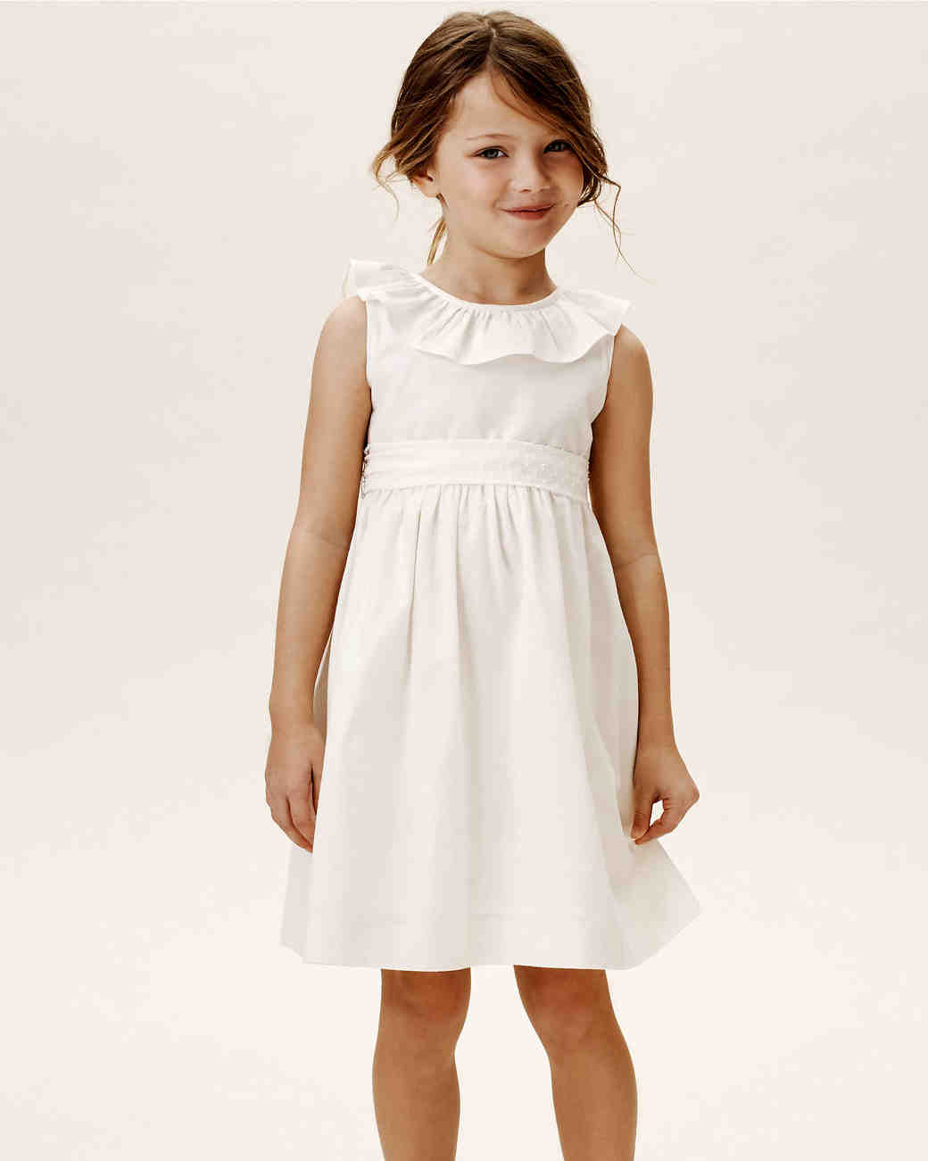summer flower girl outfit simple white dress